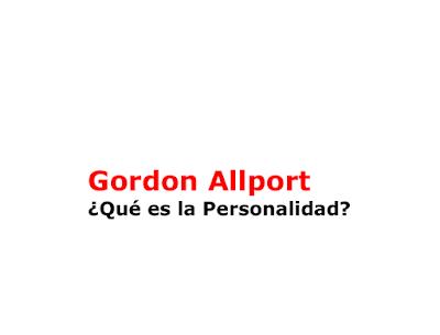 ¿Qué es la Personalidad? - Gordon Allport