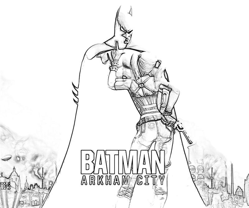 Batman Arkham Asylum Coloring Pages