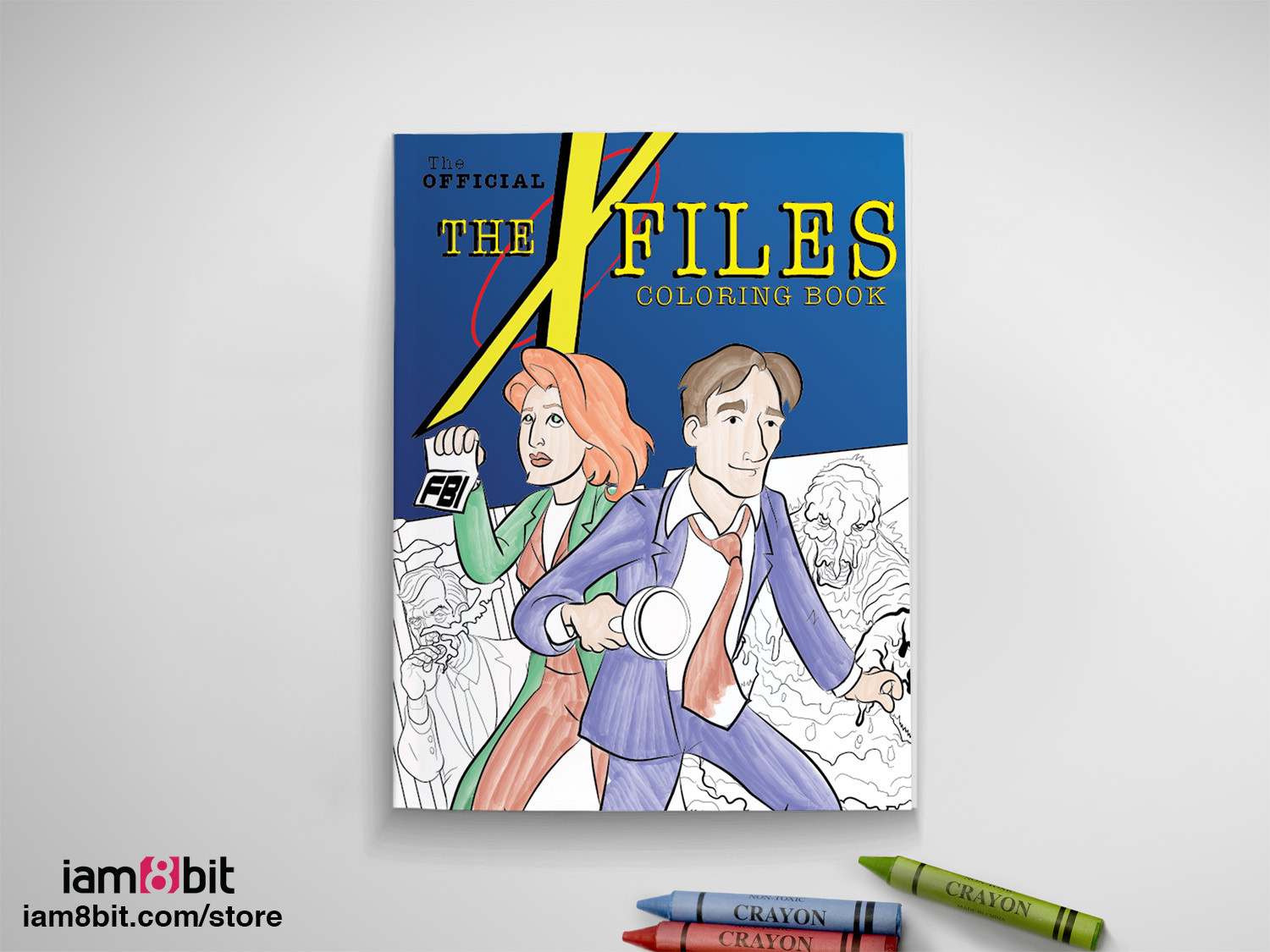 Co coloring book shop - Co Comic Book Coloring Book The X Files Coloring Book
