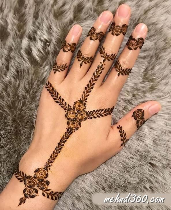 Back Hand Floral Mehndi Designs