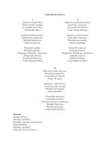 Naskah lagu Indonesia Raya yang sekarang digunakan
