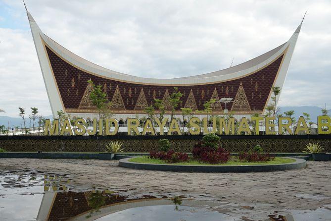 Tulisan Masjid Raya Sumatera Barat