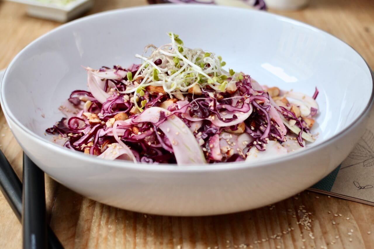 Rotkraut-Fenchel-Salat