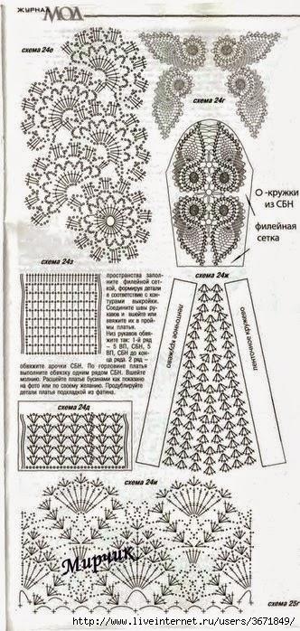 Vestido De Novia Tejido Con Ganchillo