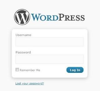 Wordpress admin login page