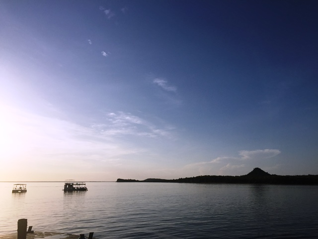 Final de tarde no Rio Tapajós
