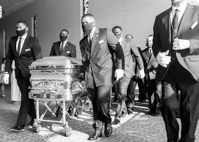 pictures from murdered george floyd funeral service and his casket