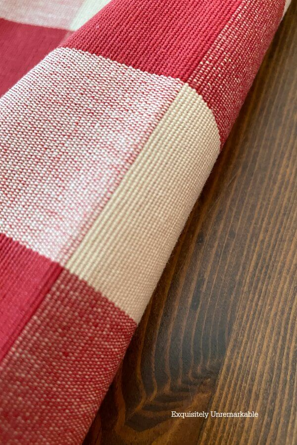 Cutting and Folding Check Fabric