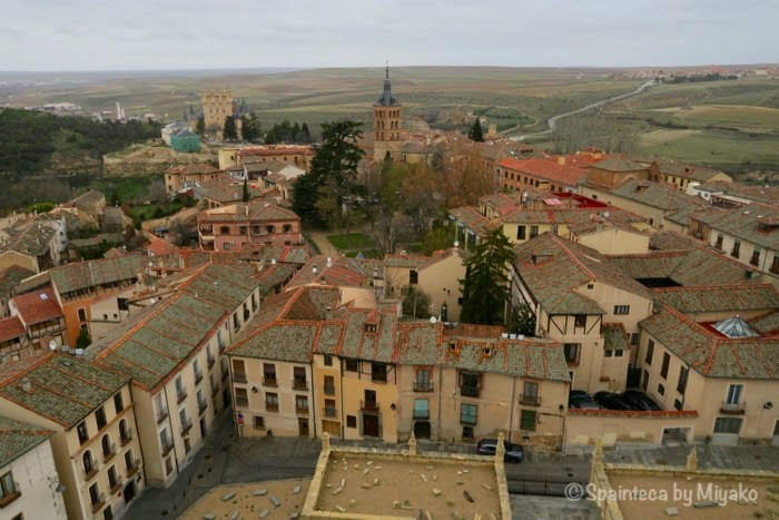 Segovia 世界遺産セゴビアの大聖堂の塔から眺める旧市街
