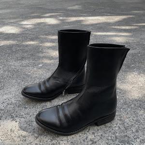 WALKER 822B - WALKER SPIRAL ZIP BOOTS 822 in BLACK