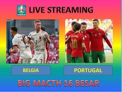 Link Live Streaming Euro 2020 BELGIA VS PORTUGAL Berlangsung Di Stadion Olimpiade Sevilla