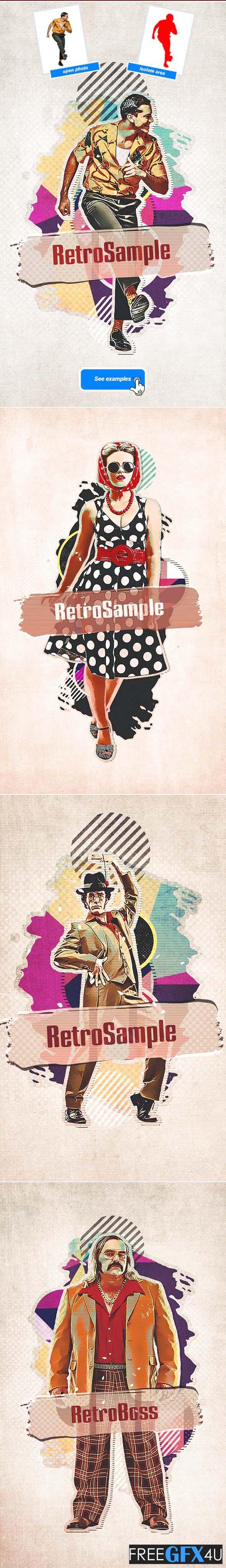 Retro Collage  Photoshop Action