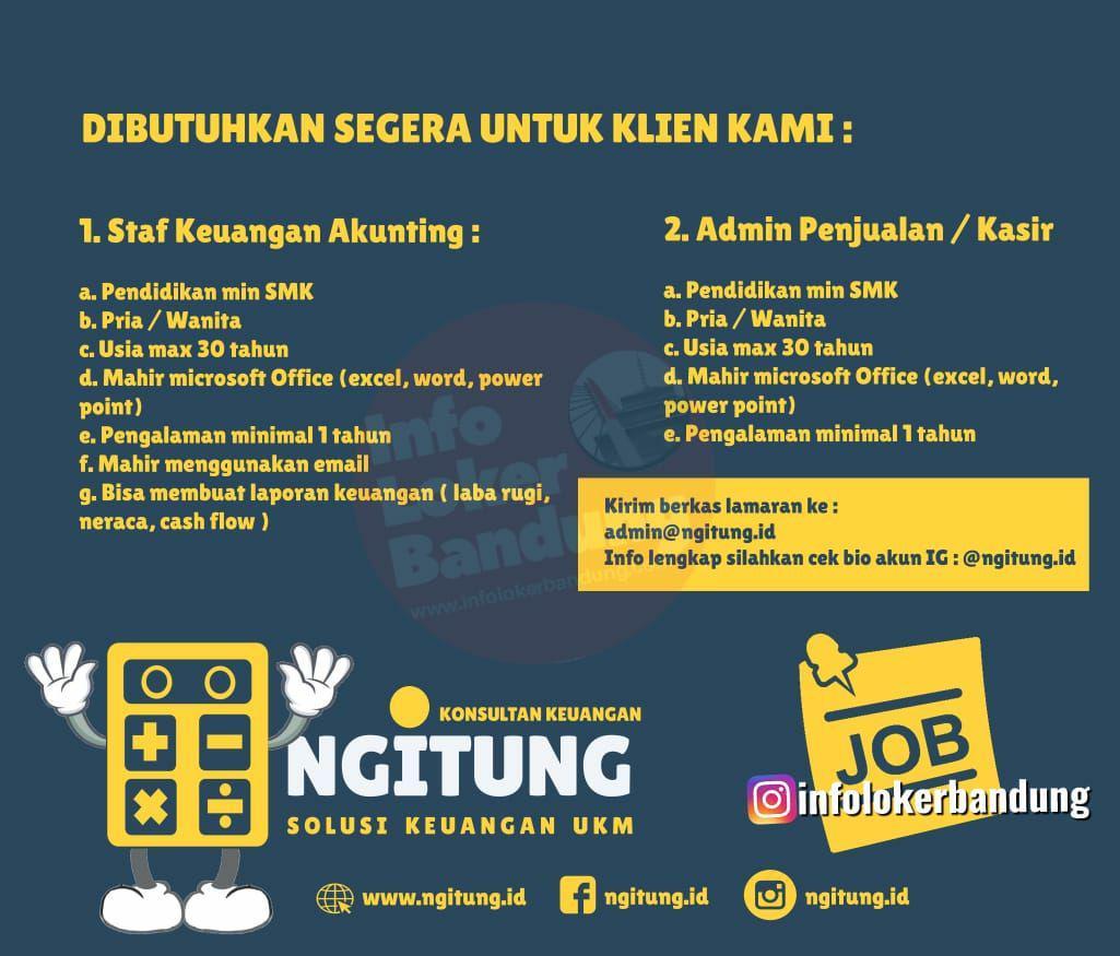 Lowongan Kerja Staf Keuangan Akunting & Admin Penjualan Ngitung.id Bandung Oktober 2019