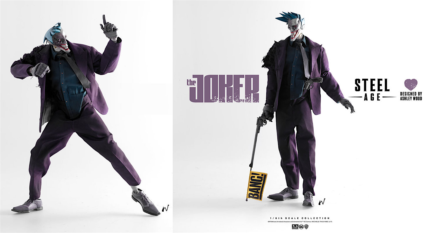 STEEL AGE JOKER by ThreeA Toys for Oct 4th Pre-Orders on Bambaland ...