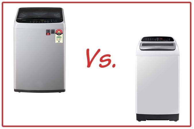 LG T70SPSF2Z and Samsung WA65T4262GG/TL Washing Machine Comparison.