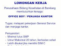 LOWONGAN KERJA OFFICE BOY/ PENJAGA KANTOR GRIYAKAMI