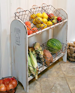 diy farmhouse vegetable stand from blanket rack