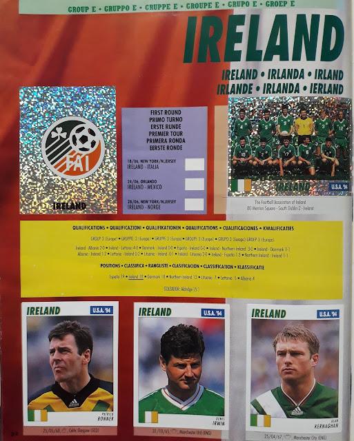 USA '94 WORLD SOCCER CHAMPIONSHIP GROUP E IRELAND