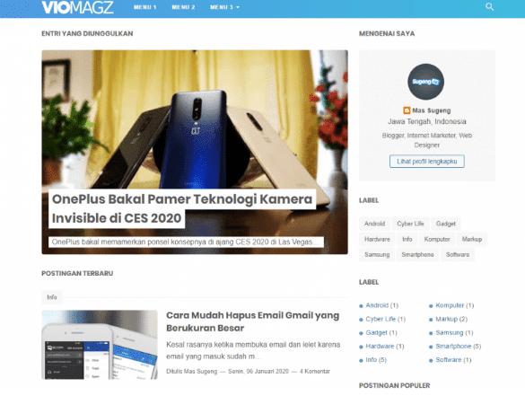 Home Page Template Viomagz V2.2