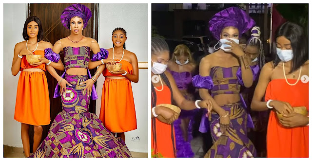 Princess of Africow– Nigerians react as crossdresser James Brown storms event with his maidens (Video)