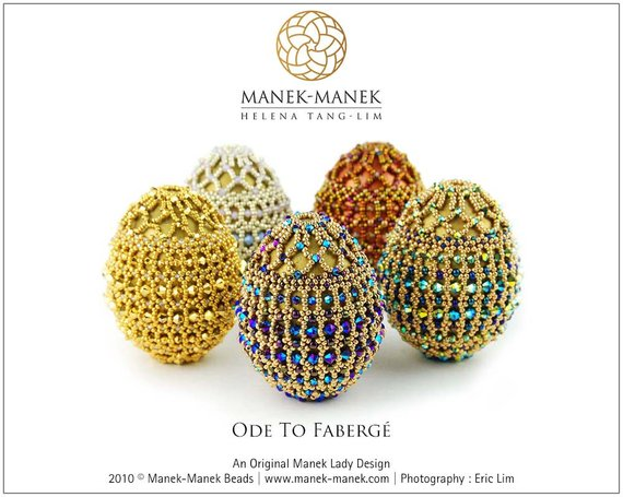 Beaded Easter Egg Tutorial Collection