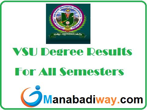 VSU Degree Results 2020 Manabadi