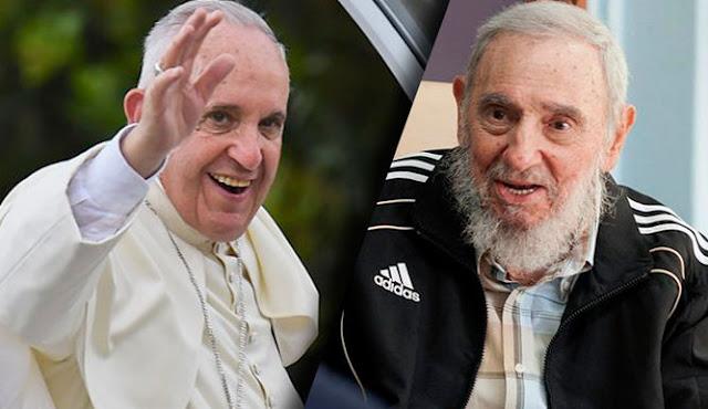 """O papa Francisco disse que a morte do líder revolucionário de Cuba Fidel Castro era uma """"triste notícia"""" e que ele estava sofrendo e orando por seu repouso"""