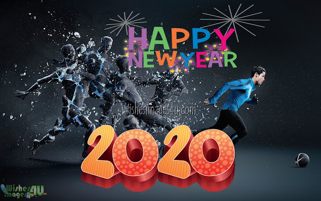 New Year 2020 3D Desktop Background