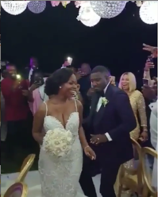 John Dumelo Storms The Dance Floor With Great Moves At His White Wedding