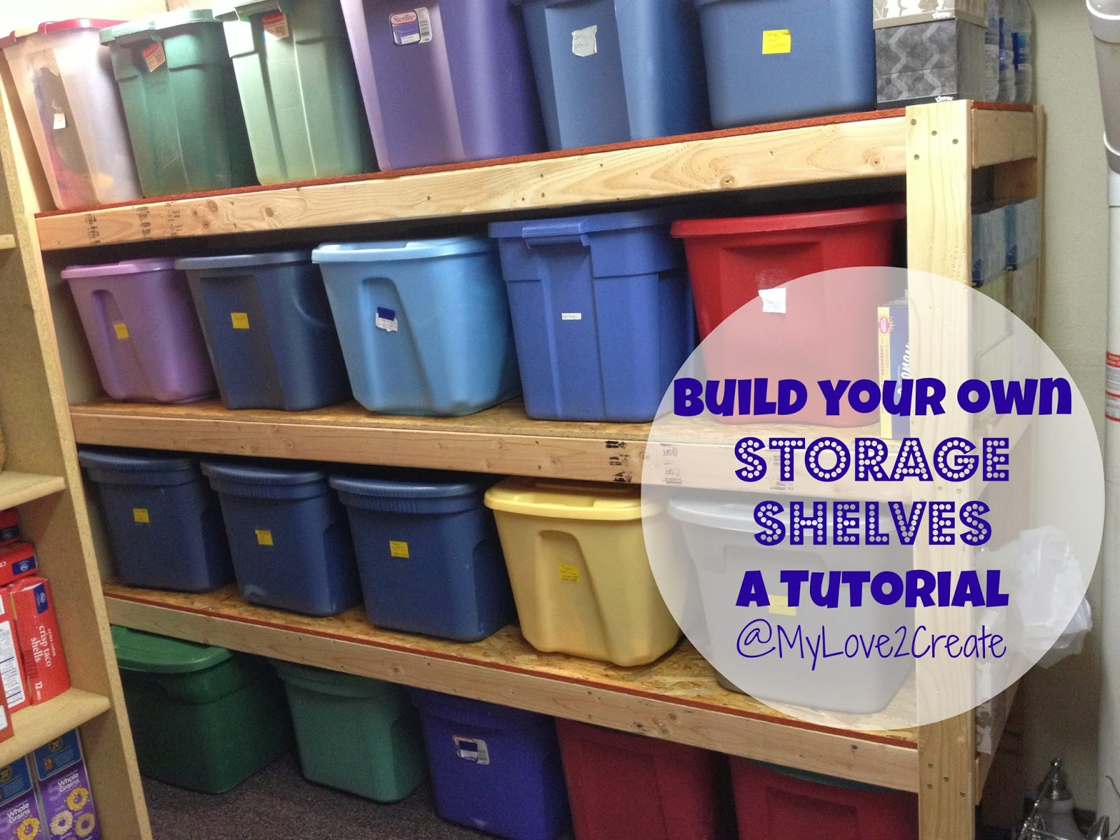 Storage Shelves, a tutorial | My Love 2 Create