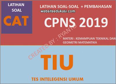 Soal CPNS TIU 2019/2020 Kemampuan Teknikal dan Geometri