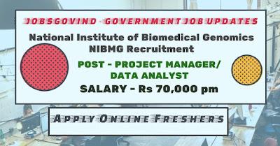 NIBMG Recruitment 2020
