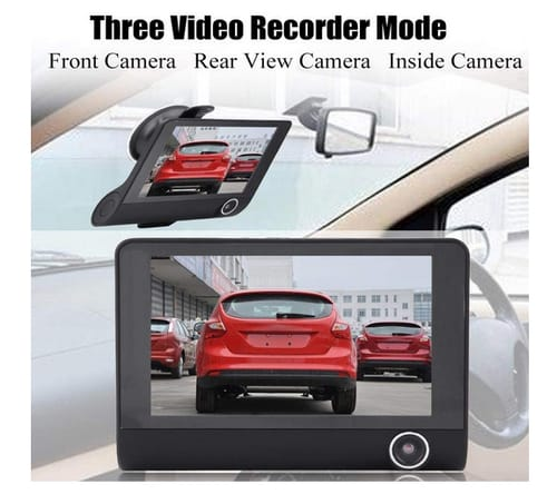 Greensen 1080P HD 3 Lens Front and Rear Dash Cam