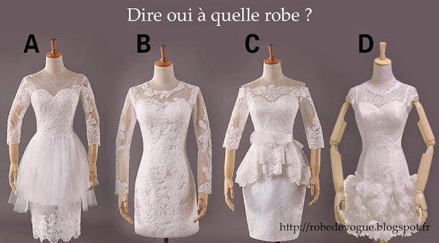 Robe de mariée dentelle courte avec manche 2015