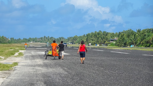 Multipurpose usage of the airfield in Tuvalu