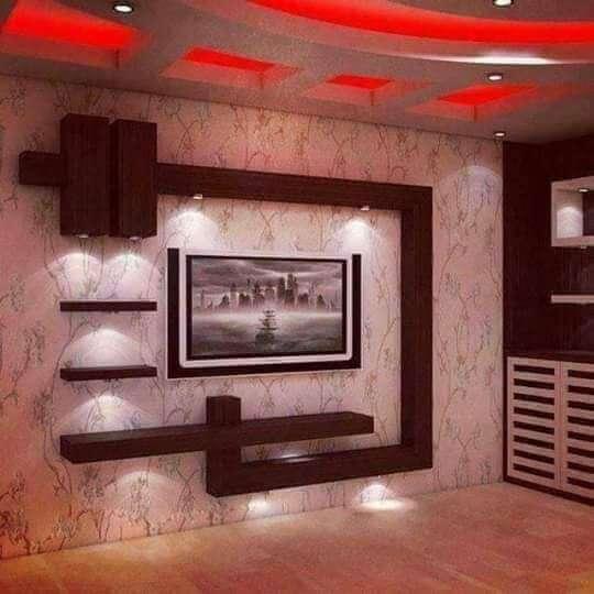 ديكورات جبس تلفزيونات البلازما على الجدران (بالصور)