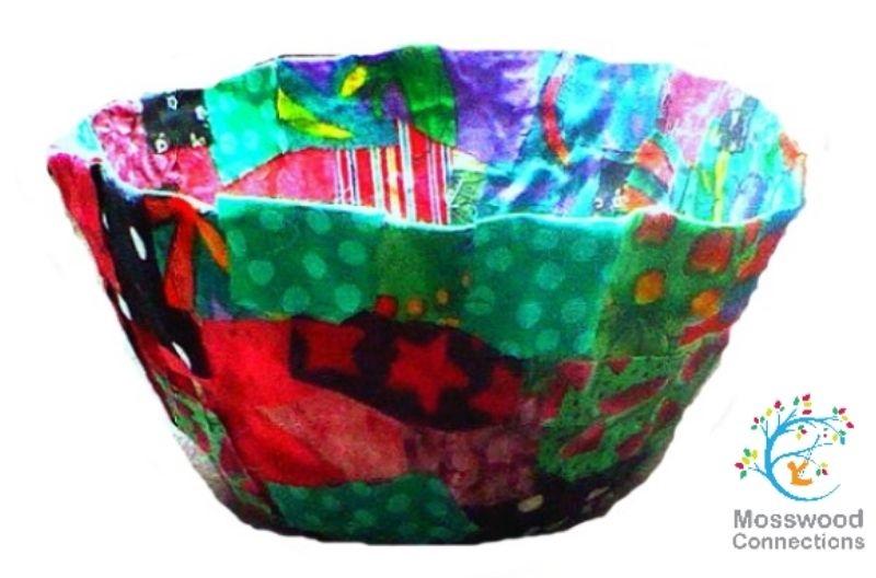 handmade fabric bowl