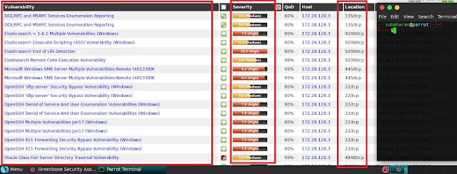 openvas vulnerabilities list
