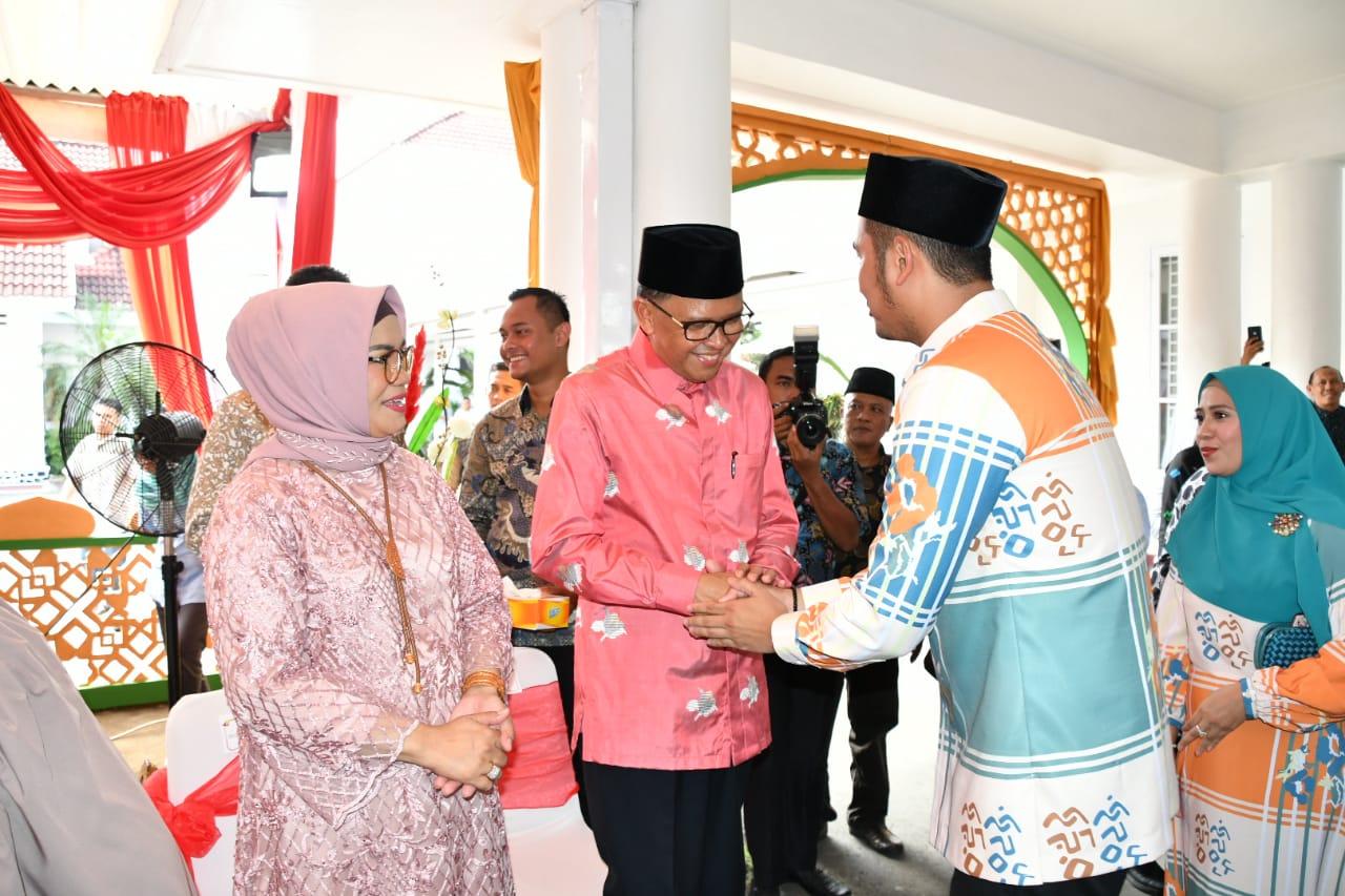 Bupati Sinjai Hadiri Open House di Rujab Gubernur Sulsel