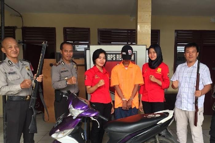 DPO Curian Motor Rumah Kosong Ditangkap Polsek Pulau Panggung