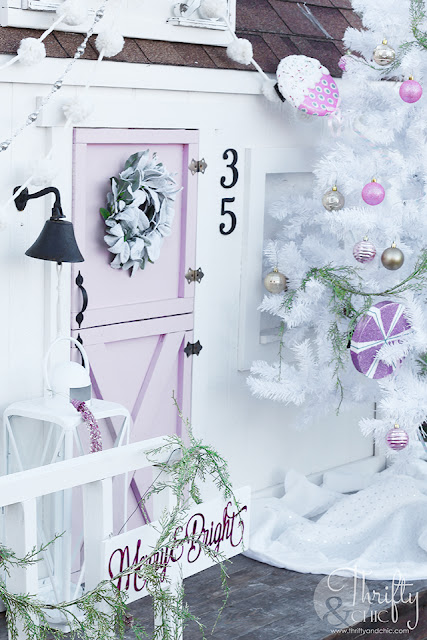 Candy Land Christmas Decor and decorating ideas. Playhouse Christmas decor. How to decorate a kids space for Christmas.