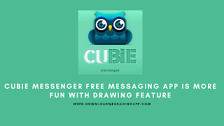 Cubie Messenger Free Messaging App Is More Fun with Drawing Feature