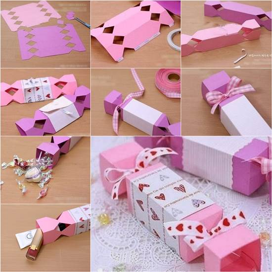 Wonderful How to make Candy Shaped Gift Box ~ Crazzy Craft GZ31