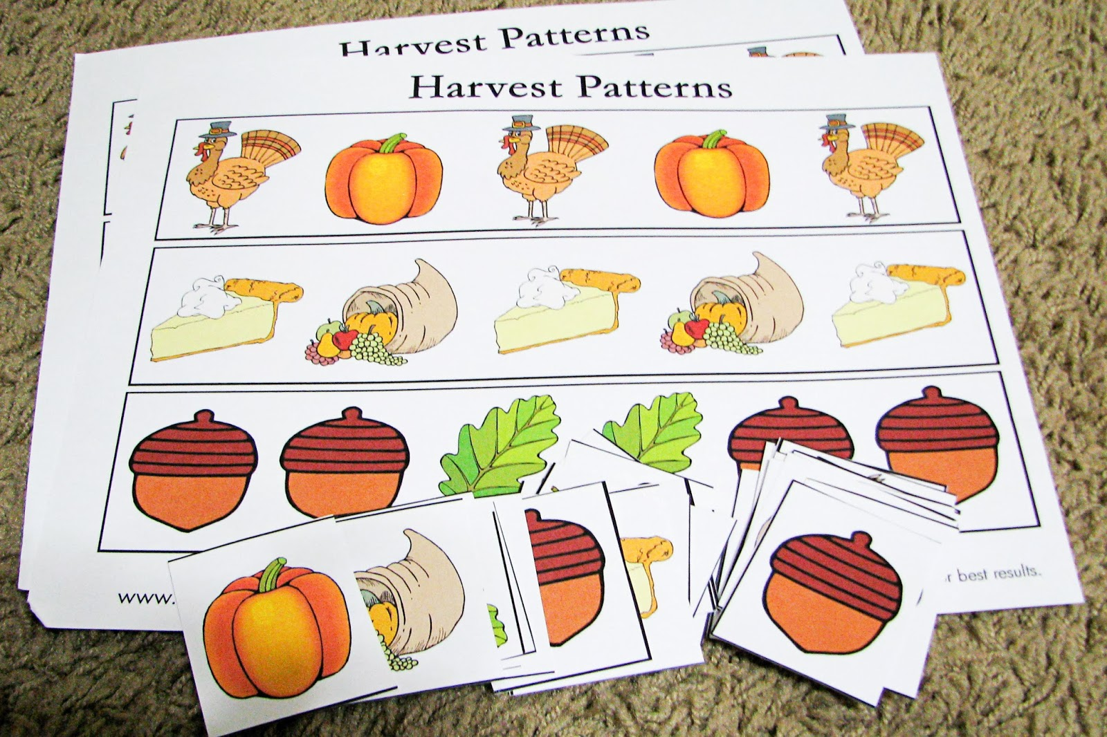 Mommy's Little Helper: Thanksgiving Preschool Activities