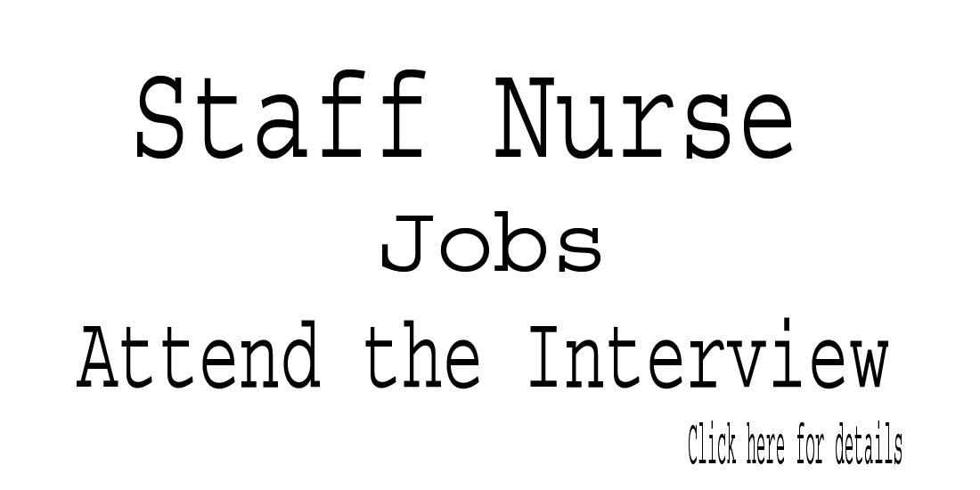 NURSING JOBS: Staff Nurse Jobs in Karnataka