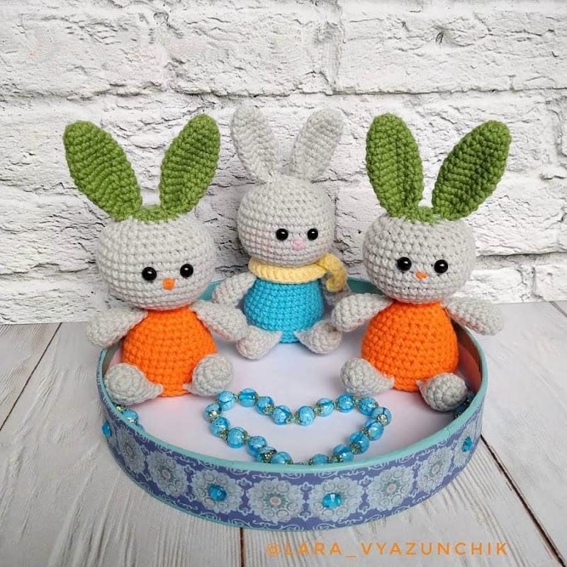 Морковный зайчишка амигуруми