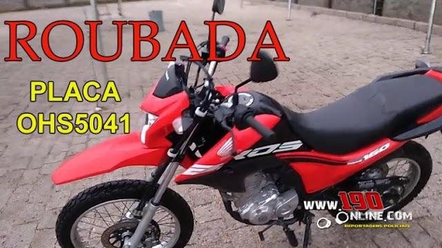 Alta Floresta – Mulher é abordada no portão de casa e tem moto roubada no Bairro Cidade Alta