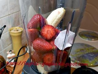 Smoothie με φράουλα και μπανάνα - από «Τα φαγητά της γιαγιάς»