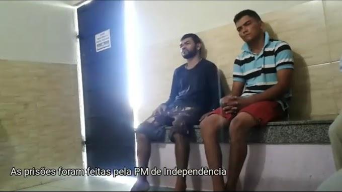 DUPLA TENTOU INTERCEPTAR VEÍCULOS NA SERRA DO BELÉM E FORAM PRESOS PELA PM DE INDEPENDÊNCIA