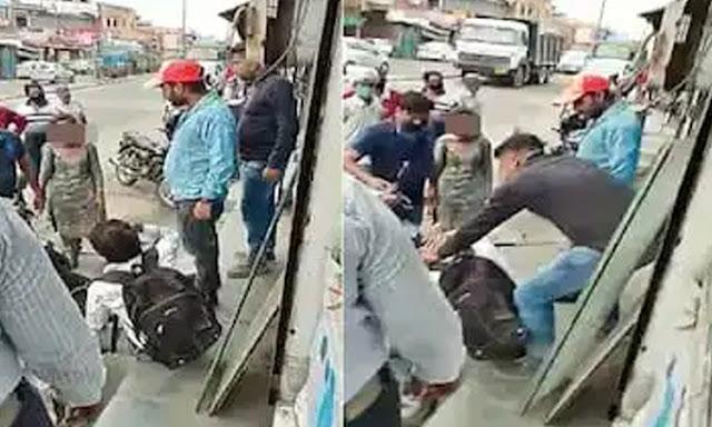 हिमाचल: लड़की को फोन पर भेजता था अश्लील मैसेज, बीच बाजार युवक की कर दी चप्पलों से पिटाई